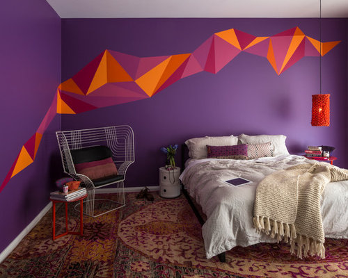 best orange and purple design ideas remodel pictures houzz