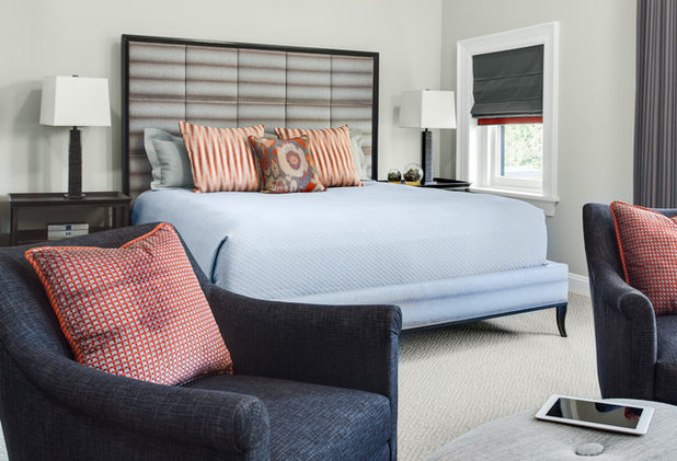 Transitional Bedroom by Samantha Friedman Interior Designs