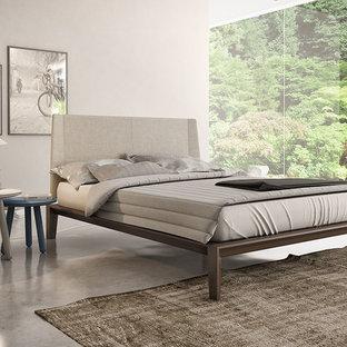 Minimalist bedroom photo in New York