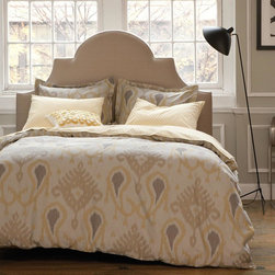 Dwell Studio Batavia Citrine Duvet Set - Each set is woven at the best Oeke-Tex certified mills in Portugal, and we only use environmentally friendly Oeke-Tex certified dyes. Our patterns are yarn-dyed onto luxurious 300-thread count woven cotton jacquard that is combed three times on each side, which gives our fabric its silky soft feel.
