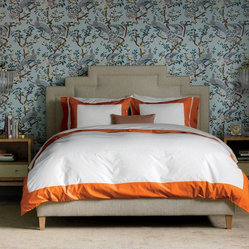Dwell Studio Modern Border Tangerine Duvet Set