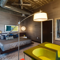 Industrial Bedroom by Mark Teskey Architectural Photography