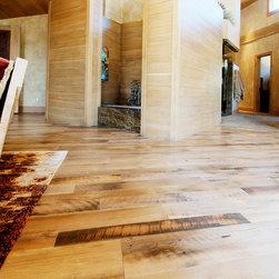 E. Residence (Evergreen, CO) - Antique oak Hit skip flooring