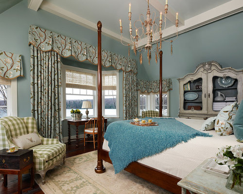 Best Light Blue Master Bedroom Design Ideas & Remodel Pictures | Houzz