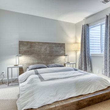 East Hampton House- bedroom in finished basement