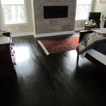 East Hampton new construction - Red Oak stained Ebony