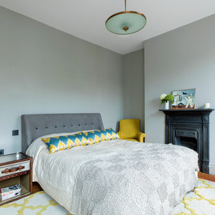 Photo of a midcentury bedroom in London.