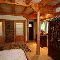 Asian Bedroom by South County Post & Beam, Inc.