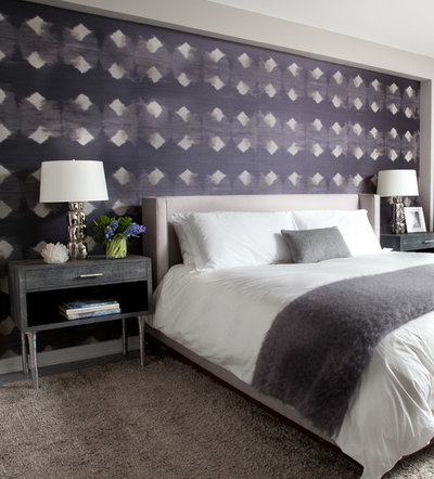 コンテンポラリー 寝室 by Jessica Gersten Interiors
