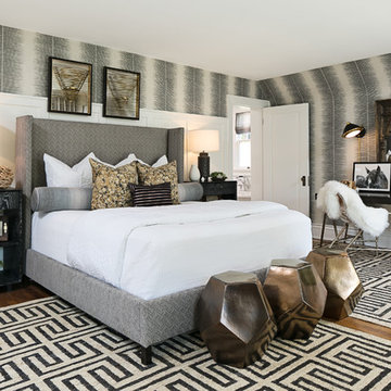 East Side Master Suite, Black, White, and Gold