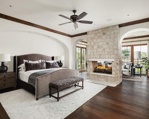Mediterrane schlafzimmer mit tunnelkamin ideen design - Wandfarbe mediterran ...
