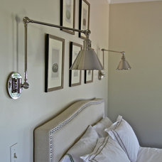 Transitional Bedroom by scout design