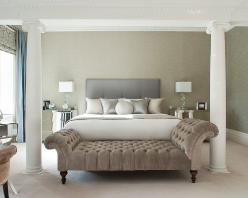 Chaise for bedroom houzz for Bedroom chaise lounge