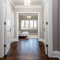 Transitional Bedroom by Geometra Design Ltd.