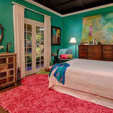 Eclectic Bedroom and Patio