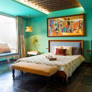 Ispirazione per una camera da letto eclettica