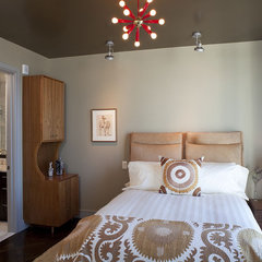 eclectic bedroom by Cravotta Interiors