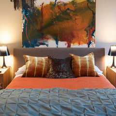 eclectic bedroom by Heather Garrett Design