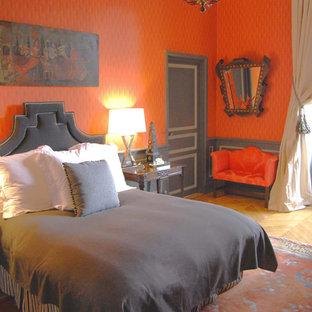 Grey And Orange Bedroom | Houzz