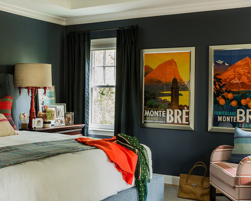 SaveEmail Eclectic Bedroom  Vintage Posters Ideas Pictures Remodel and Decor. Posters In Bedroom