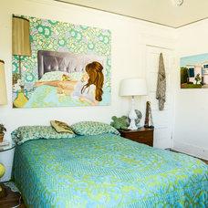 Eclectic Bedroom by ariane bartosh interior design