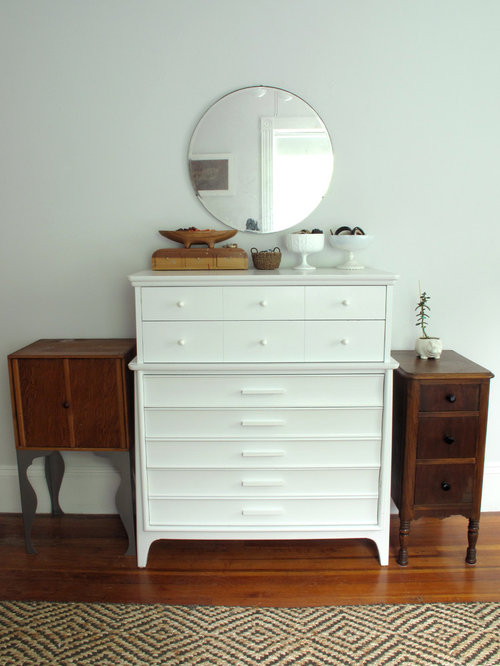 Mirror over dresser houzz for Dresser ideas for small bedroom
