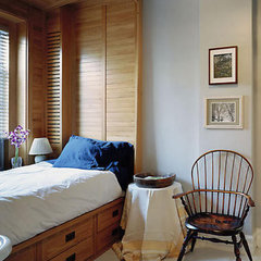 eclectic bedroom by James Wagman Architect, LLC