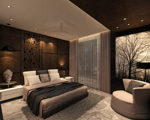 Bedroom design ideas renovations photos with marble for Black and white marble bedding