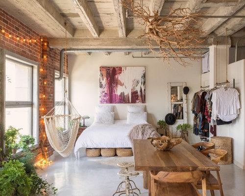 Camera da letto stile loft eclettica - Foto e Idee per Arredare