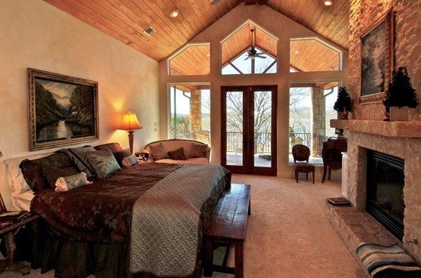 Eclectic Bedroom by Zbranek & Holt Custom Homes