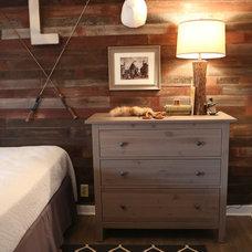 Rustic Bedroom by Laura Potter Designs