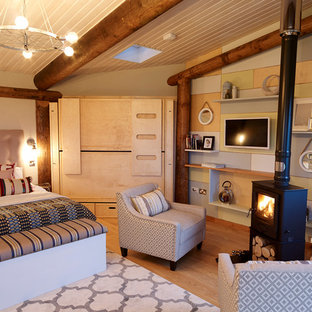 Design ideas for a rustic bedroom in Other.