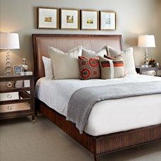 Transitional Bedroom by Donna Figg Design