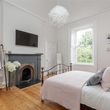 Edinburgh Georgian Apartment - Pink and Grey Bedroom