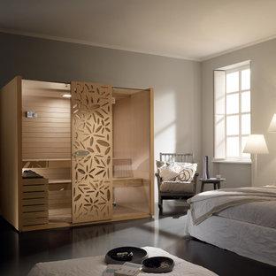Bedroom - mediterranean bedroom idea in New York