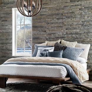 Bedroom - rustic bedroom idea in San Diego
