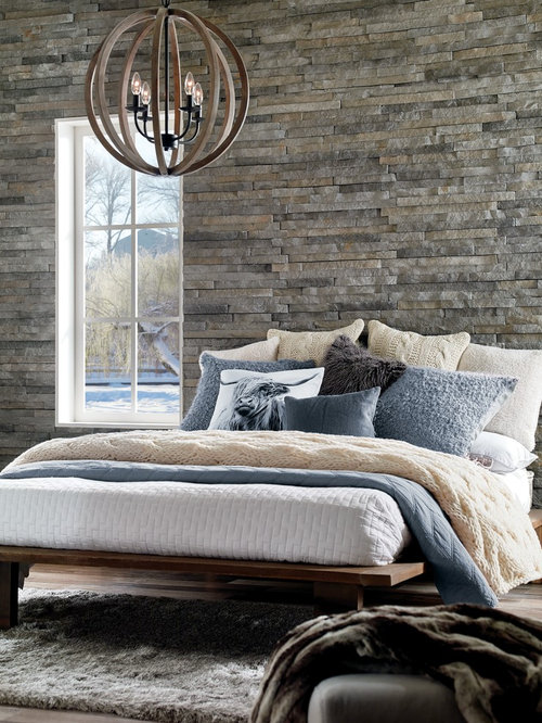 Rustic Grey Bedroom Design Ideas Renovations Photos