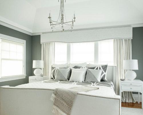 glamorous white gray master bedroom   Elegant and Glamorous Master Bedroom
