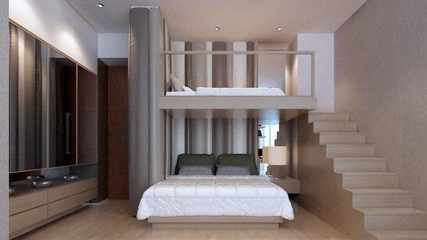 Minimalistisch Schlafzimmer by 10x10 design