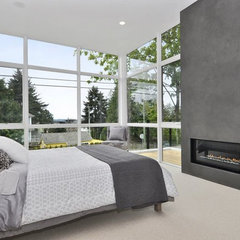 modern bedroom by Elemental Design, LLC