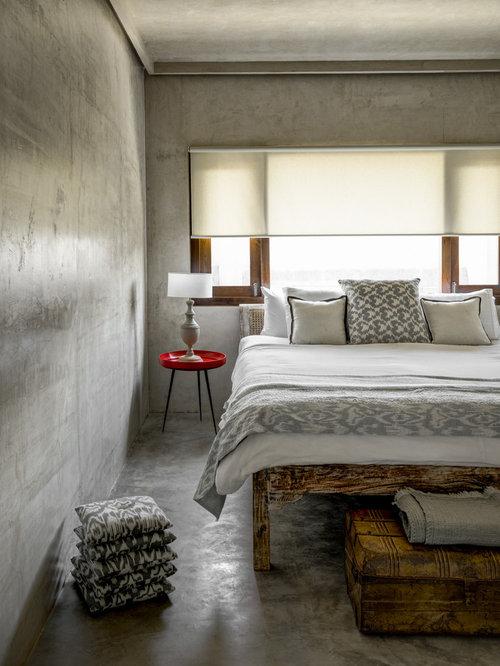 Camera da letto con pareti grigie India - Foto e Idee per Arredare
