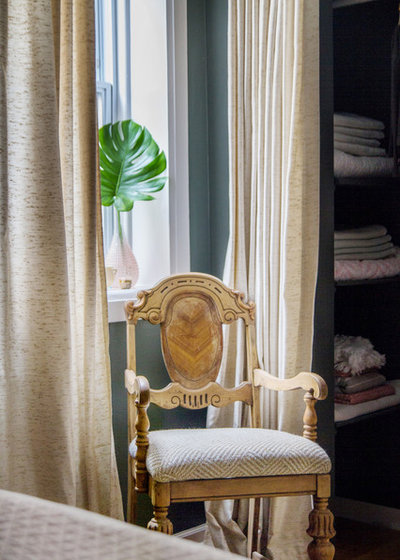 Transitional Bedroom by Kelly Peloza Photo LLC
