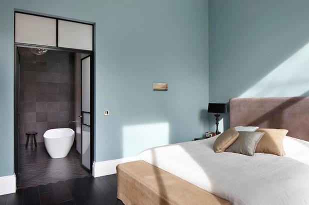 Tinte pastello come usarle per arredare casa con eleganza - Camera da letto azzurro polvere ...