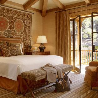 Elegant bedroom photo in San Francisco with beige walls