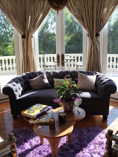 Amazing Mediterranean Medium Tone Wood Floor Bedroom Idea In Los Angeles Part 30
