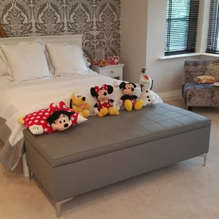 Design ideas for a contemporary bedroom in Cheshire.