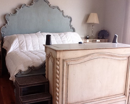 End of bed TV lift cabinet furniture pictures