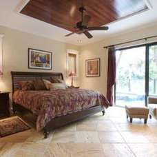 Tropical Bedroom by Farrell Design Assoc Inc,