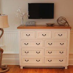 Eport Cottage Furniture Collection - Bedroom Dresser with a custom wooden top.