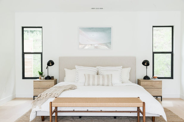Coastal Bedroom by Shelter Residential